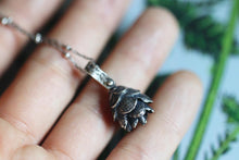 Solid sterling silver hemlock cone necklace #18