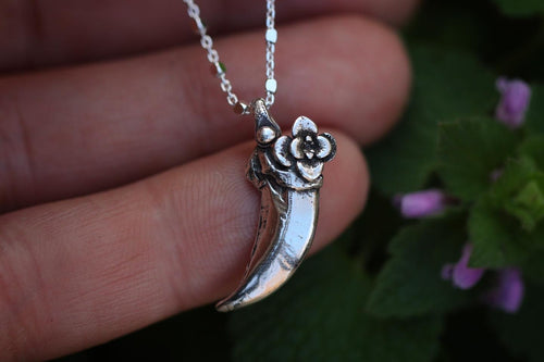 Fox claw succulent necklace #2