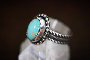Sterling silver natural Royston turquoise ring US 6.5