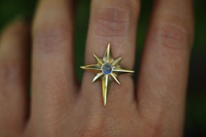 Made to size mixed metal northern star ring
