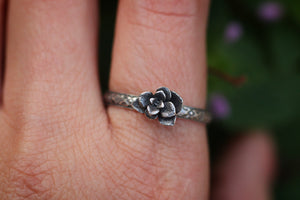 Victorian style succulent ring US 9.5
