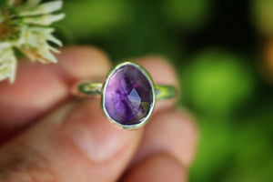 Sterling silver amethyst ring US 7