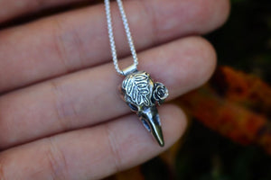 Mini raven succulent necklace #4