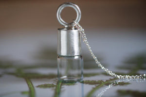 Sterling silver solid cast rollerball necklace.