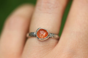 Rainbow sunstone ring US 5