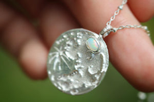 Welo opal moon necklace #3