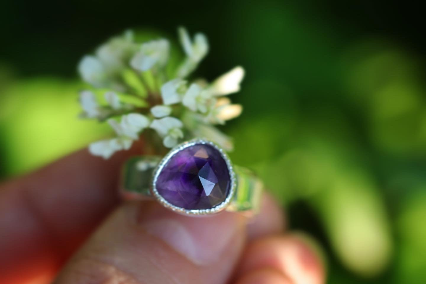 Sterling silver amethyst ring US 6.5