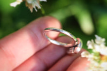 Sterling silver rainbow moonstone ring US 6