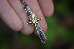 Northern star hourglass necklace