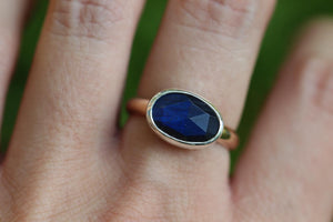 Sterling and 14k gold filled labradorite ring US 8