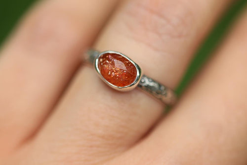 rainbow sunstone ring US 6