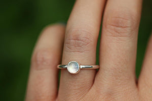 rainbow moonstone ring US 6.75