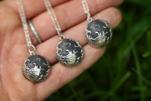 Full moon sterling silver necklace