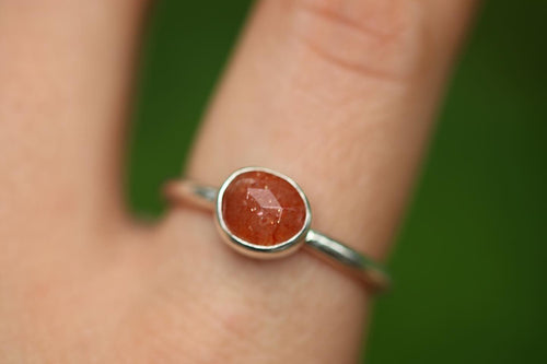 rainbow sunstone ring US 9