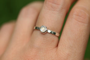 rainbow moonstone ring US 7