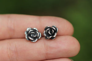 Sterling sivler succulent stud earrings