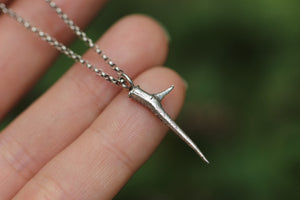 Sterling silver thorn necklace #4