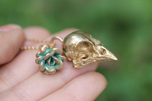 Bronze sparrow succulent necklace
