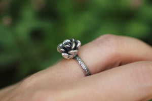 Sterling silver succulent ring 5