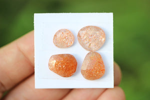 Rose cut sunstone lot #19