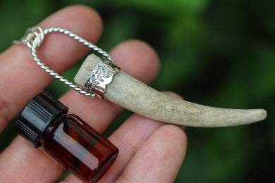 MADE TO ORDER- Deer antler essential oil diffuser necklace