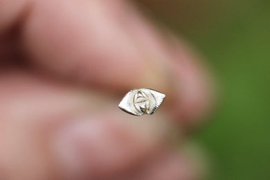 Sterling silver succulent nose ring #1