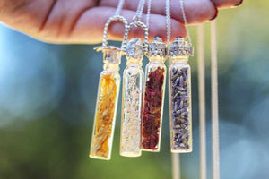 Essential oil, perfume, keepsake, urn vial necklace #1