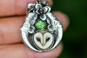 Made to finish owl talon succulent necklace or ring