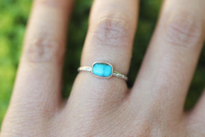 Carico Lake turquoise stacking ring US size 5