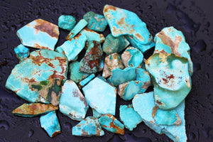 Natural blue gem turquoise lot