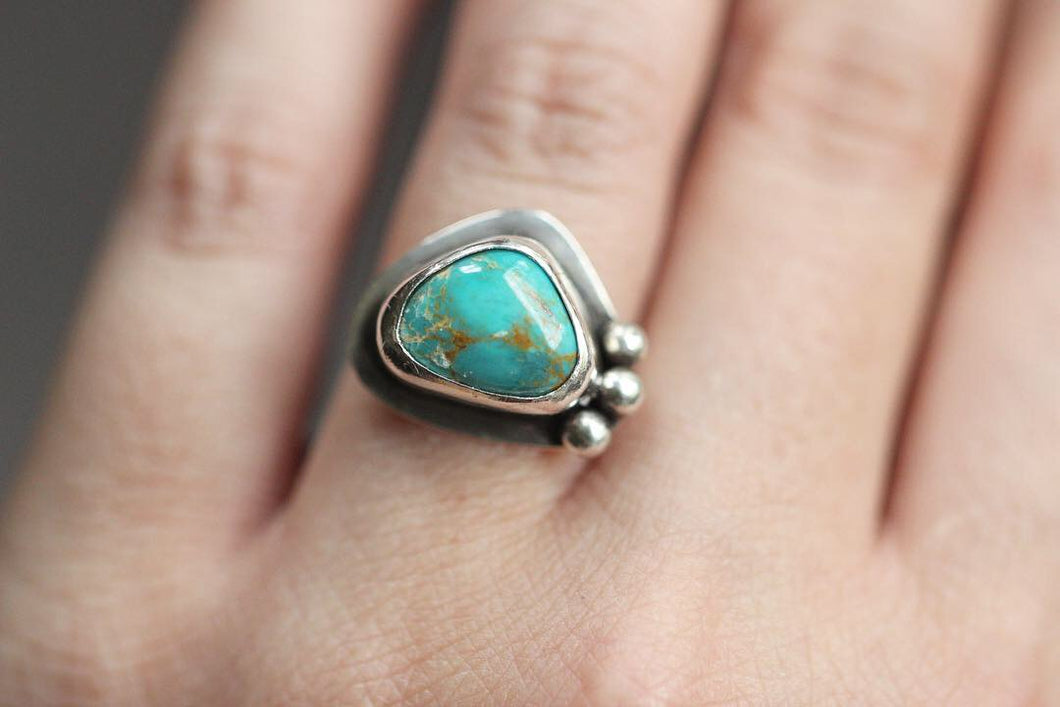 sterling silver Royston turquoise ring US size 6.5