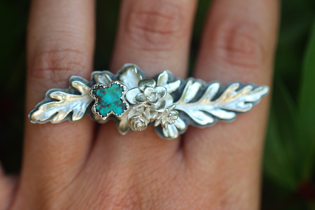 Unfurl fern ring