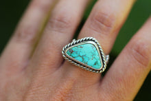 Natural Royston turquoise ring US size 7