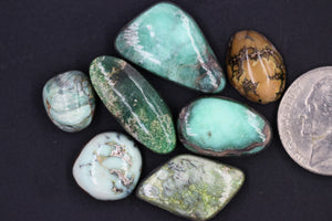 61 carats of natural Damele turquoise cabochons