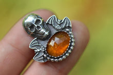 Made to size/length bat and skull ring/necklace