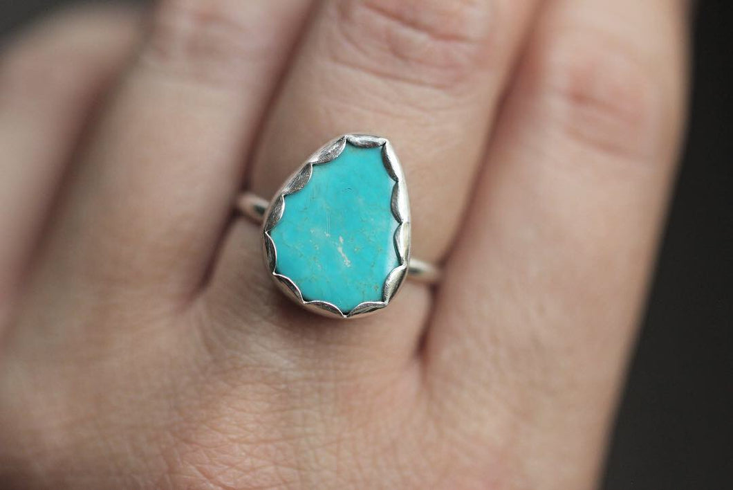 sterling silver Kingman turquoise ring US size 7.5