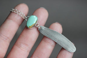 Turquoise dragonfly wing necklace