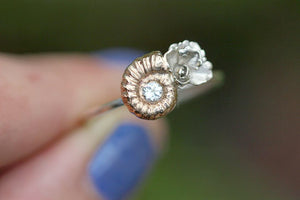 Cast bronze ammonite succulent ring #4 US size 7.5-8
