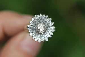 Sterling silver sunflower ring US 5.5