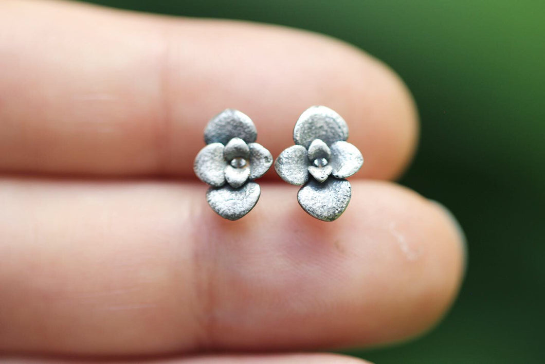 Succulent stud earrings #10