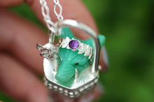 Queen of the forest quartz crystal talisman necklace