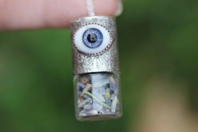 All seeing eye essential oil roller bottle necklace