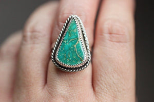 Natural Kingman turquoise ring US size 7