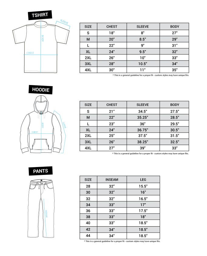 Size Chart – DGK Skitne ghetto ungerSkateboard & Apparel Skitne ghetto unger Skateboard & Apparel
