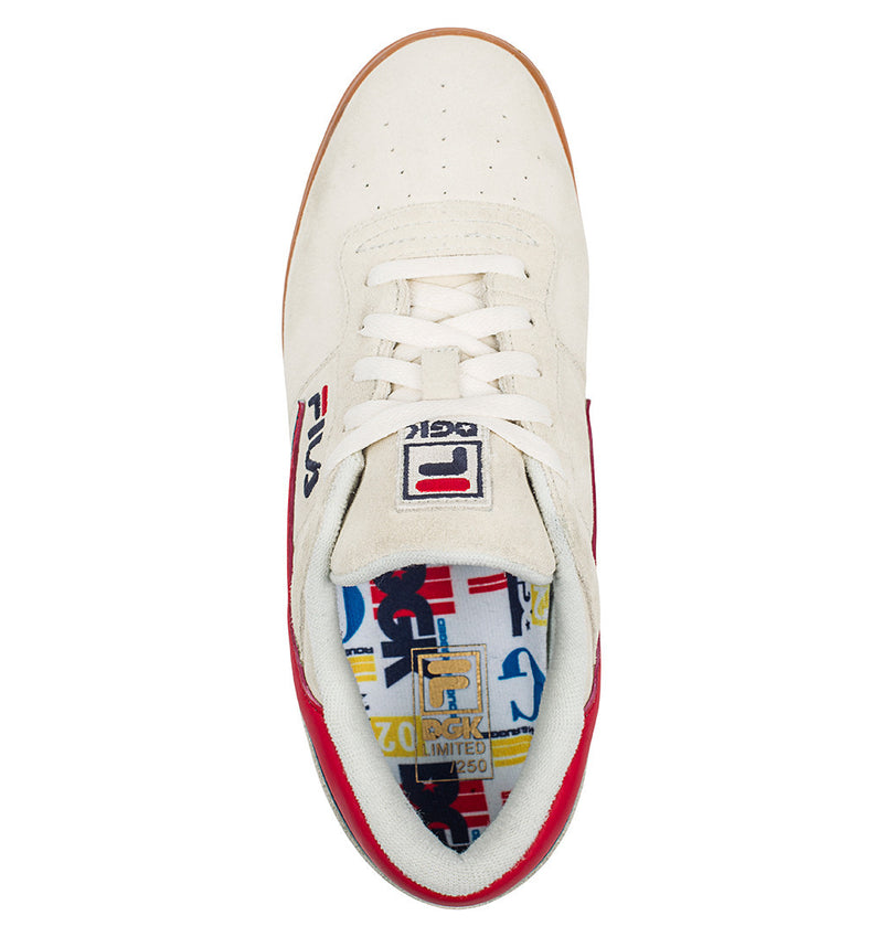 DGK Fila Shoes White