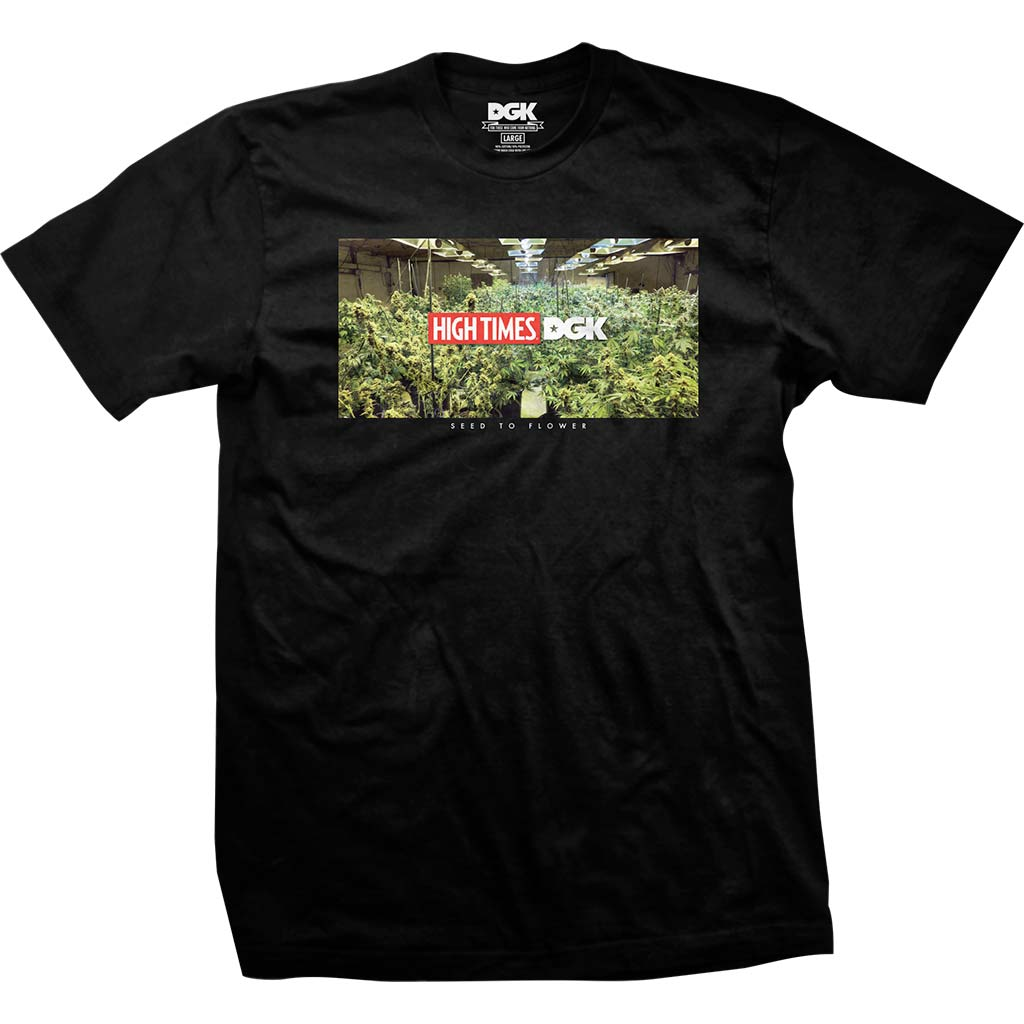 DGK x High Times Grow Room T-Shirt Black