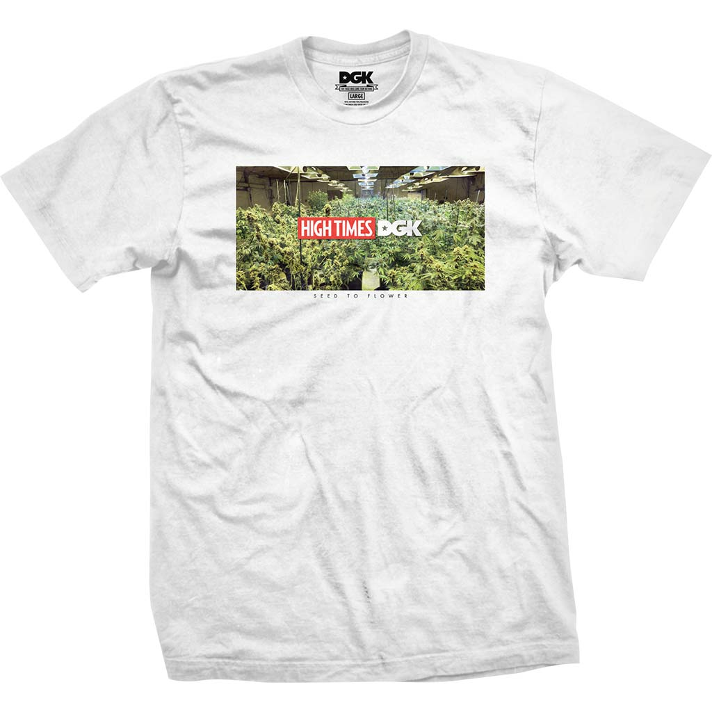 DGK x High Times Grow Room T-Shirt White