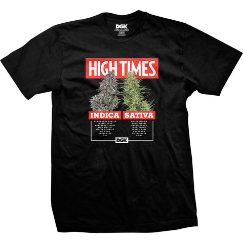 DGK x High Times Options T-Shirt Black