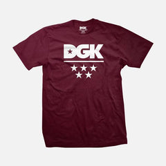 DGK All Star T-Shirt Burgundy