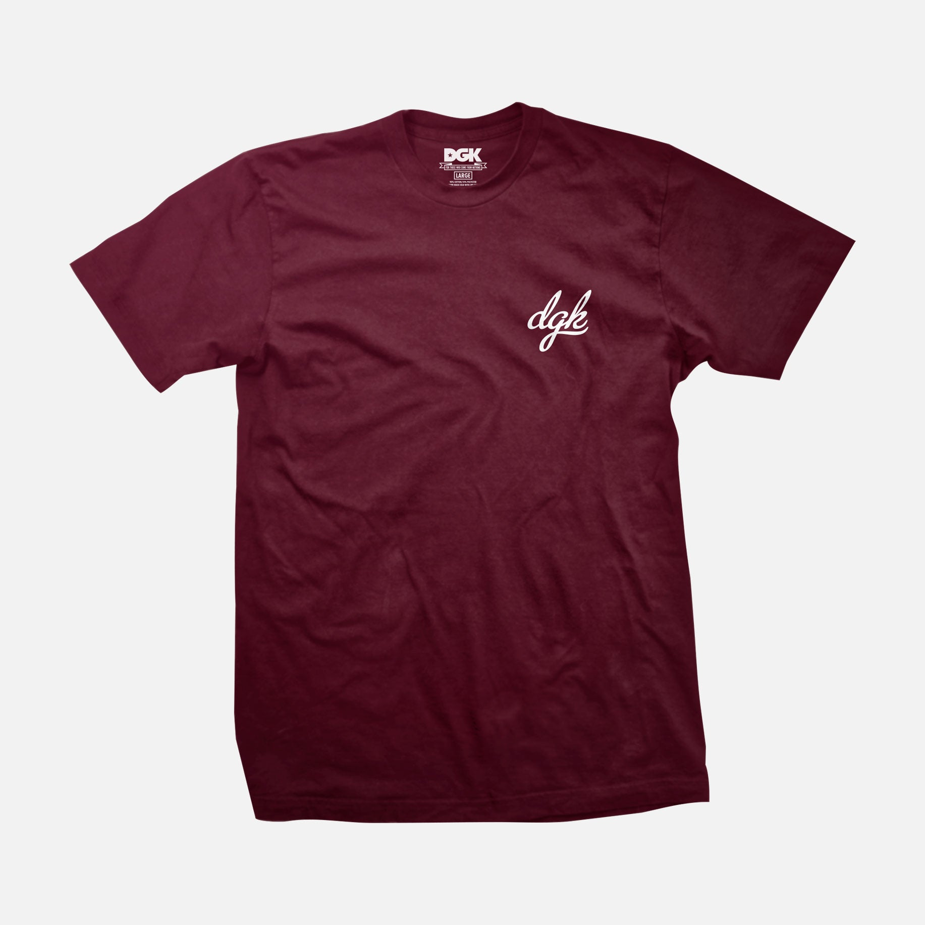 DGK Mini Script T-Shirt Burgundy